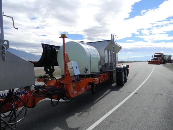 UDOT using an ATV mounted sprayer