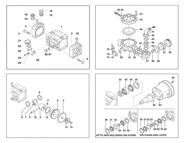 Hypro D30 Diaphragm Pump Schematic